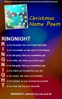 Ringnight - Christmas name poem by moonofheaven1