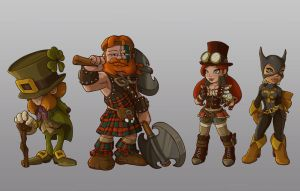 st patrick character concept by jamis27