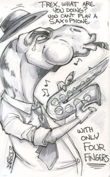 silly t-rex by belligerent