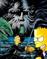 Harry vs Bart by jlfletch