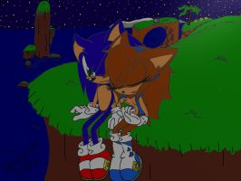 Sonic and Sonar in Green Hill Zone by Sonar15