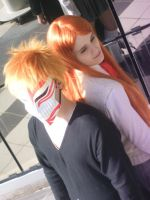 IchiHime Bleach - orange by xRika89x