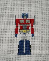 Optimus Prime stitched by crawdadEmily