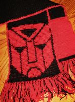 Autobot Scarf - Finished by vermilionbird