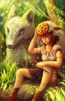 princess mononoke by michellescribbles