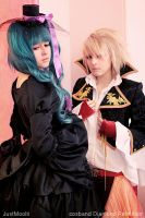 Hatsune Miku and Len by DiamondRebellion