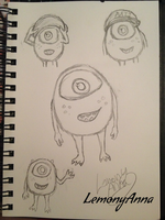 Baby Mike Sketches by LemonyAnna