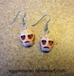 Attack on Titan Colossal Titan Earrings by egyptianruin