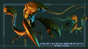 Crustacean Behemoth Low Poly Model by Bawarner