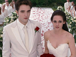 Bella and Edward at the Nightmare Wedding by AvaBloom
