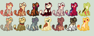 Bunch A Kitties Adopts open by BluesStuff