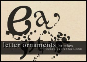 letter ornaments brushes by szkui