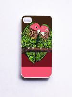 Love Birds iPhone 4/s Case by MayhemHere