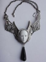 Venice mask necklace by Pinkabsinthe