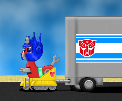 Trackhead cosplaying Optimus prime by bugatti2005