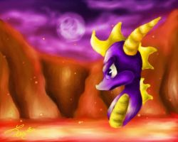 Spyro the Dragon by orchidoasis