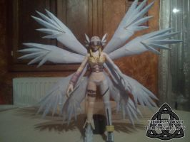 Digimon Angewomon Papercraft Wings And Hair by HellswordPapercraft