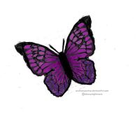 Purple butterfly only by ArcticMoonrise