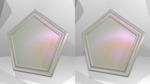 Stereogram Picture 184 - Pearl Pentagon Coaster by k45mm