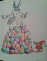 Rise of the Guardians Bunnymund Fan art by Caleb-Eshetu