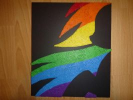 Perler Beads Custom: Rainbow dash silhouette by PIX3LPARADIS3