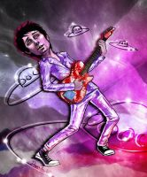 Commission (2011) : Matt Bellamy, Space Rock Star by TheTwiggyDance