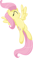 Fluttershy stretching by transparentpony