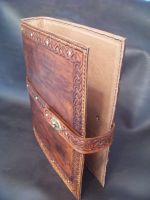 Leather 3 ring Binder by Merrills-Leather