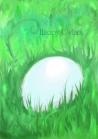 Ostara's Egg Card by koshii
