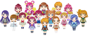 ChibiP: Precure Fukus by blknblupanther