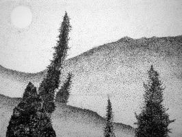 Landscape pointilism-updated by limegreenguitar