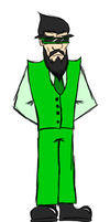 Mr.Green (Because I'm good at names.) by GhostdramonX