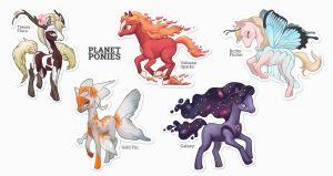 Planet ponies sticker sheet by Sheharzad-Arshad