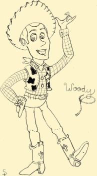 Woody from Toy Story sketch by mintkathy