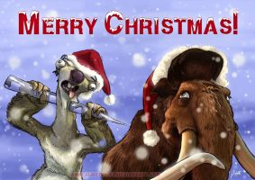 "A Merry ""Ice Age"" Christmas by AmberDust"