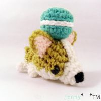 cute chibi Corgi amigurumi (for sale!) by jennybeartm