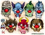 Monsta Clowns by MonsterInk