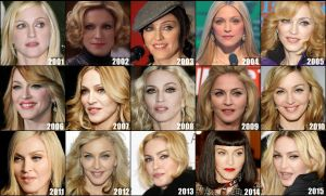 Madonna's face evolution the last 15 years by ConfessionOnMDNA
