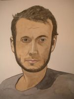 Self Portrait Watercolor Painting by Jeremiah29