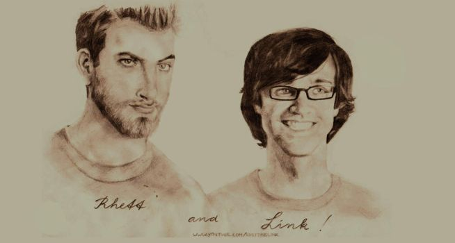Rhett and Link by RebelAndASaint