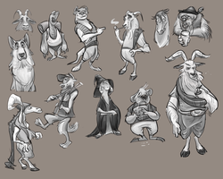 Animal Character Concepts by LuvThatDog