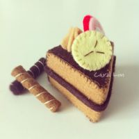 Chocolate Banana Felt Cake by bibiluv