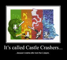 Castle Crashers Crashes 2008 by ChewySmokey