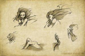 Amano Art Sketches by isaiahjordan