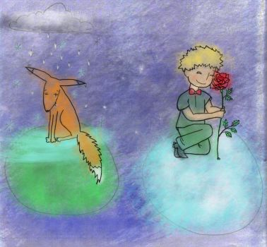 Fox and the Little Prince by gypsy-erin