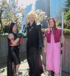 Tifa, Cloud and Aerith (Aeris) by 93FangShadow