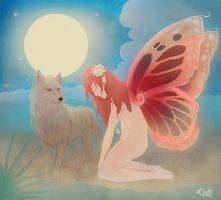 The Fairy and the wolf by CindyAA