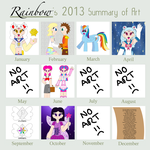 Summary of Art 2013 by The-Rainbow-Faerie