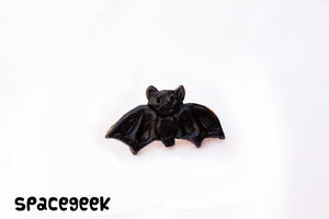Black Larger Bat Ring by candypow