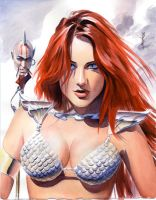 Red Sonja Study by mikemayhew